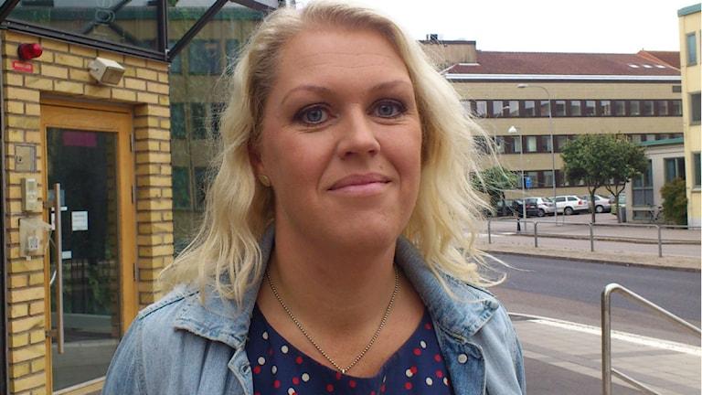 Riksdagsledamoten Lena Hallengren. Foto: Anette Eriksson/Sveriges Radio.