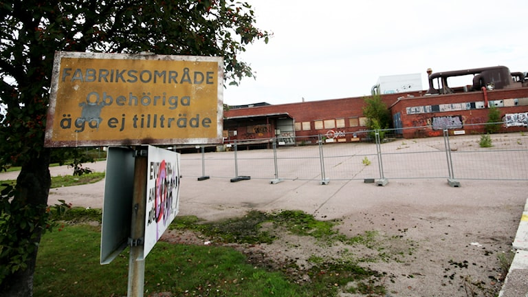 Gammalt industriområde. Foto: Nick Näslund/Sveriges Radio.