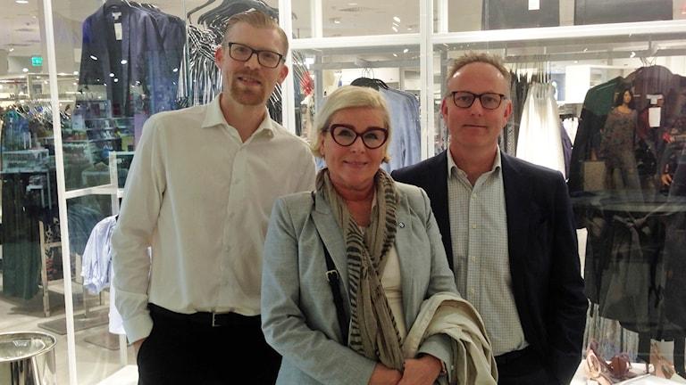 Kalmarpolitikerna Carl-Henrik Sölvinger (L), Christina Fosnes (M) och Johan Persson (S).
