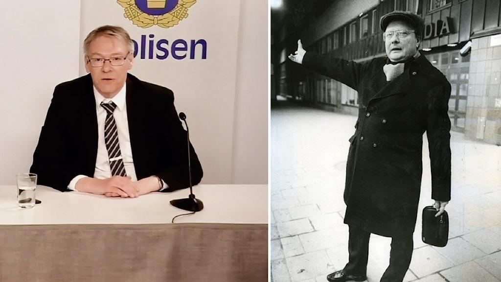 Förundersökningsledare och chefsåklagare Krister Petersson och Stig Engström, den så kallade Skandiamannen.