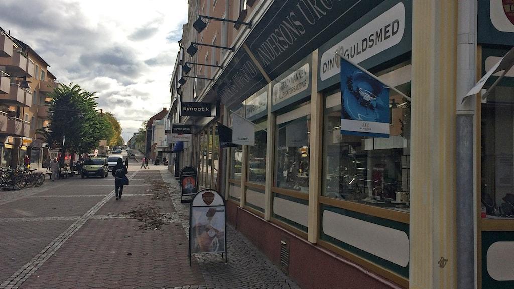 Affärsgata i Västervik.