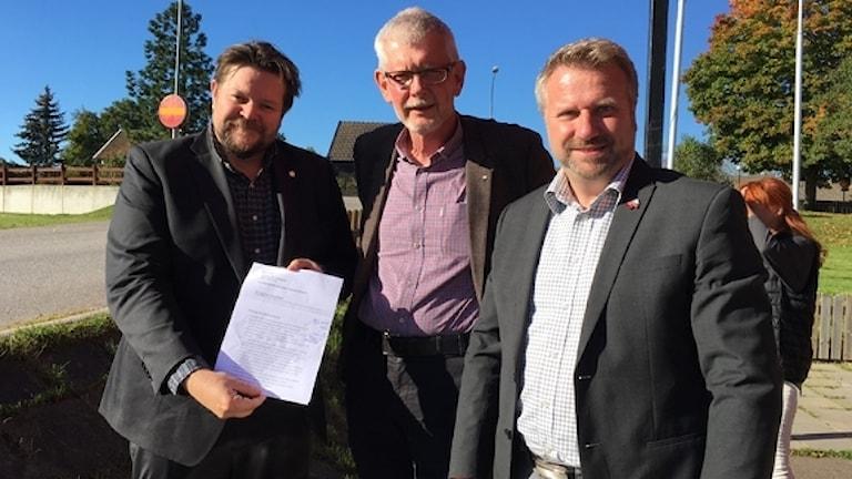Johan Hedin, Anders Åkesson och Anders Johansson