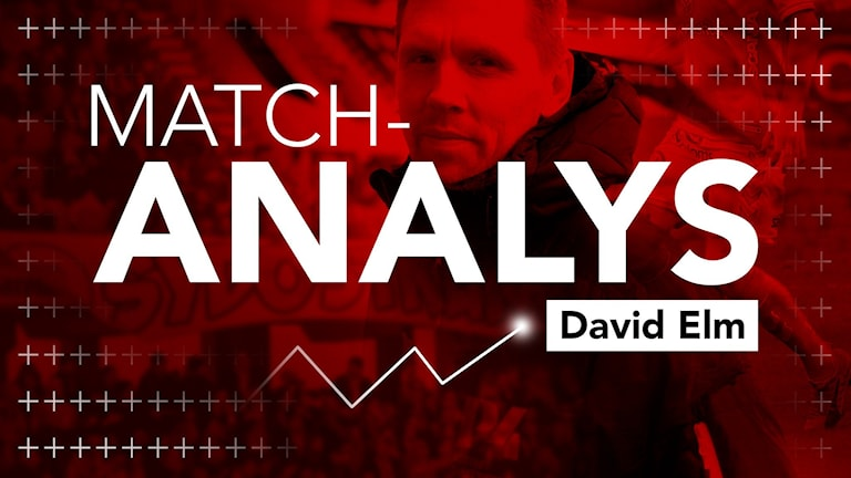 "David Elm och grafik. Texten ""Match-analys""."