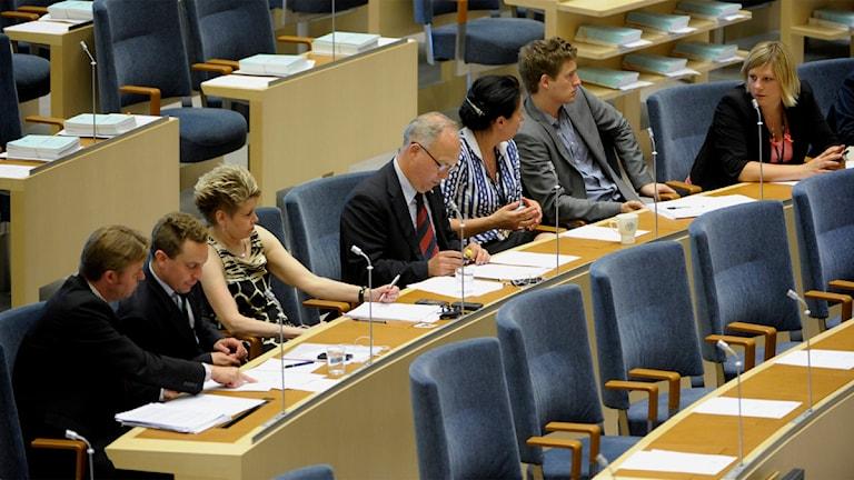 Riksdagsledamöter. Foto: Janerik Henriksson/TT