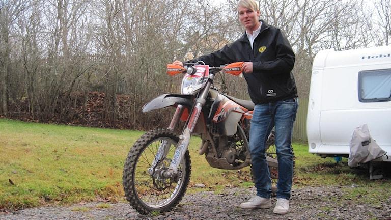 Vimmerbyföraren Kalle Svensson blev sexa i Novemberkåsan. Den här bilden är tagen från ett tidigare tillfälle.