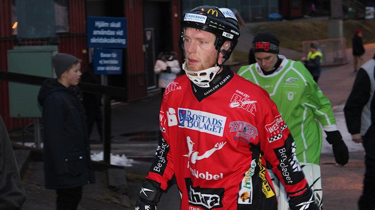 Martin Lyngell fyramålsskytt i Tjust. Foto: Patrik Wirengård/Sveriges Radio