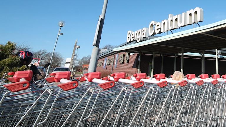 Berga centrum. Foto: Nick Näslund/Sveriges Radio