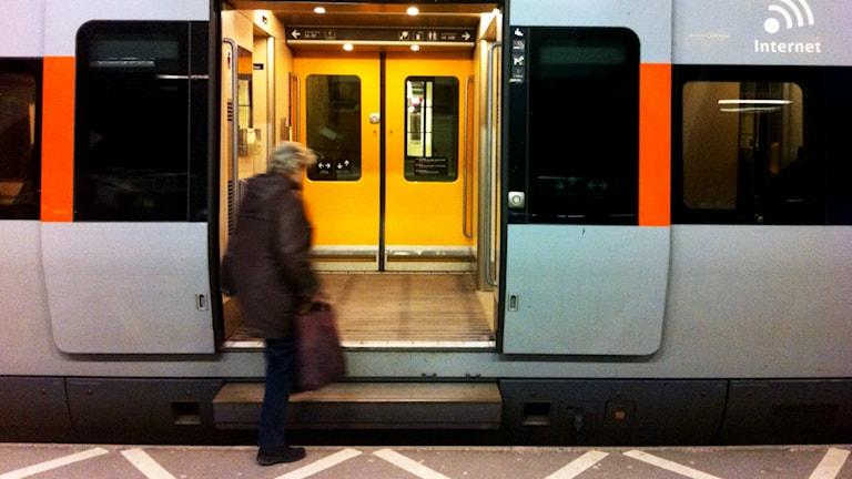 Tåg. Foto: Nick Näslund/Sveriges Radio