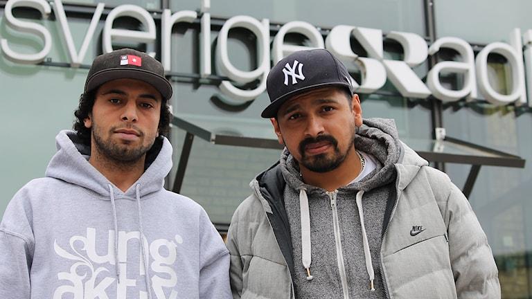 """Shadi Mattar och Rodrigo """"Rodde"""" Bernal. Foto: Marcus Léonarde/Sveriges Radio."""