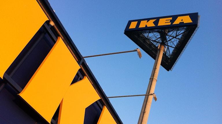 Ikea-skyltar. Foto: Nick Näslund/Sveriges Radio