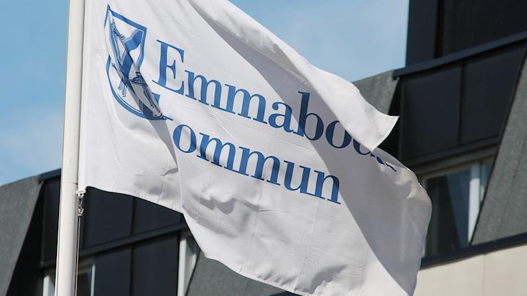 Emmaboda kommuns flagga. Foto: Nick Näslund/Sveriges Radio