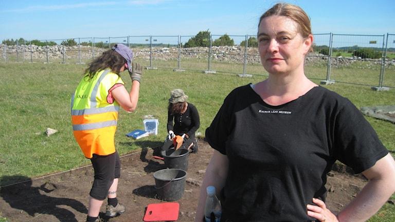 Helena Victor, ansvarig för utgrävningarna i Sandby borg