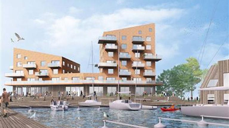 Ritningar på slottsholmen. Foto: Sandell/Sandberg
