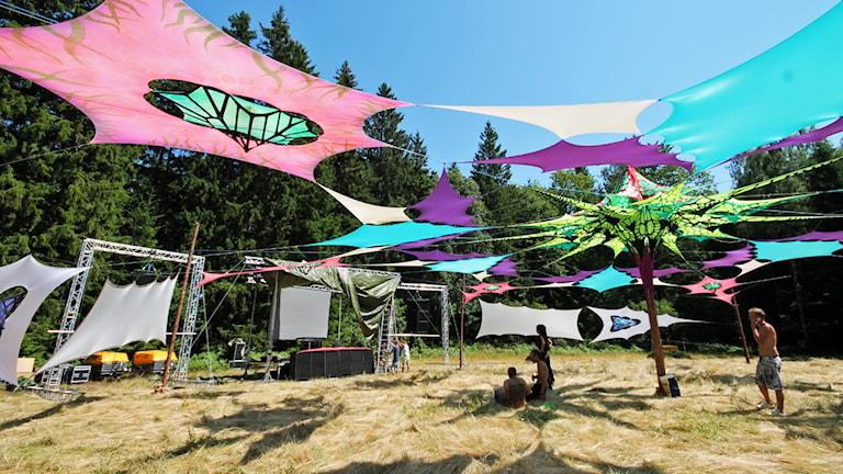 Festivalscen. Foto: Nick Näslund/Sveriges Radio