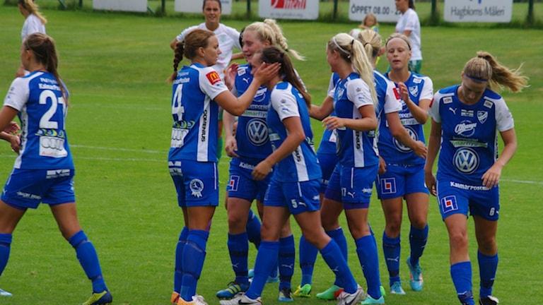 IFK Kalmar firar mål. Foto: IFK Kalmar