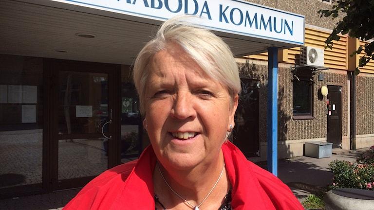 Emmaboda Ann-Marie Fagerström (C) kommunalråd. Foto: Tobias Sandblad/Sveriges radio