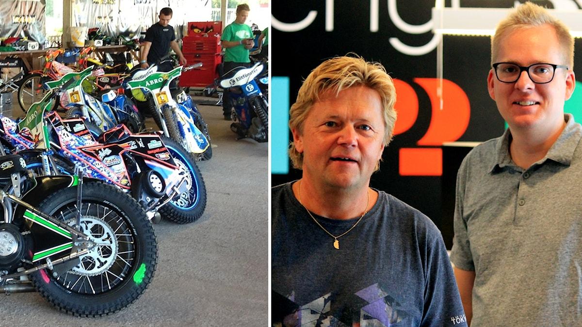 Speedwaycyklar, Janne Rindstig och Nick Näslund. Foto: Janne Rindstig och Niklas Kaldner/Sveriges Radio