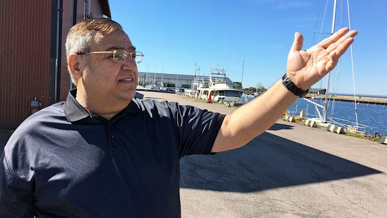 Hussum Salman i Mörbylånga hamn.