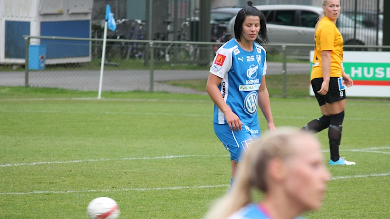 Linnea Johansson, IFK Kalmar. Foto: Janne Rindstig/Sveriges Radio