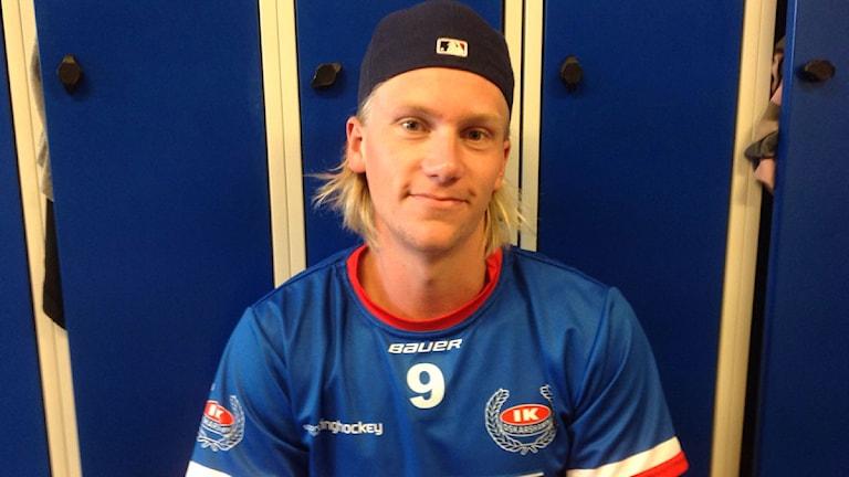Emil Kristensen mål skytt i IKO. Foto: Göran Svensson