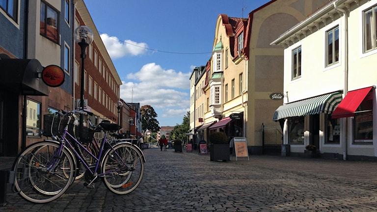 Gågata i Nybro.