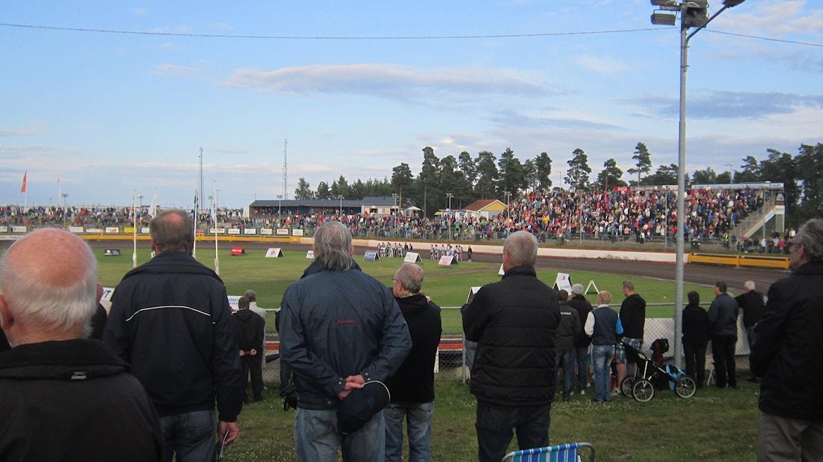 Speedway-arenan i Västervik. Foto: Patrik Wirengård/Sveriges Radio
