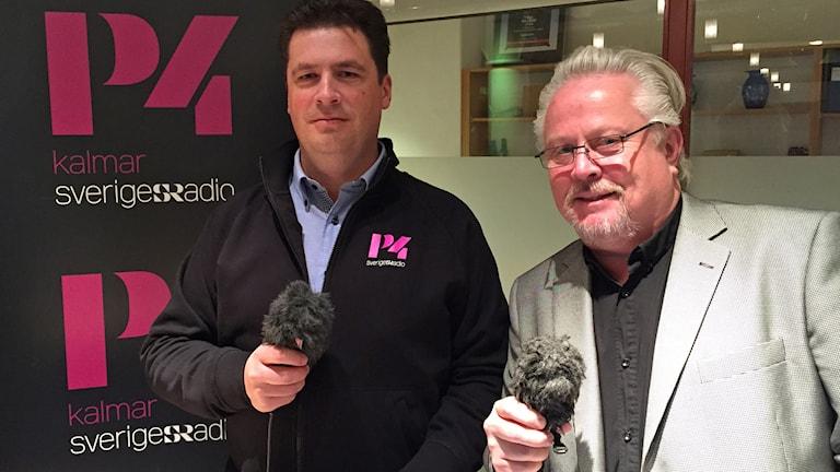 Magnus Krusell och Lennart Palm. Foto: Joakim Johansson/Sveriges Radio