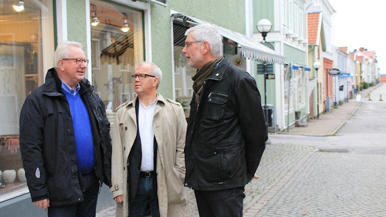 Centerpartisterna Leif Larsson, Christer Jonsson och Anders Åkesson. Foto: Johanna Lindblad Ahl/Sveriges Radio