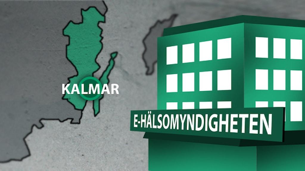 E-hälsomyndighet. Illustration: Nick Näslund/Sveriges Radio