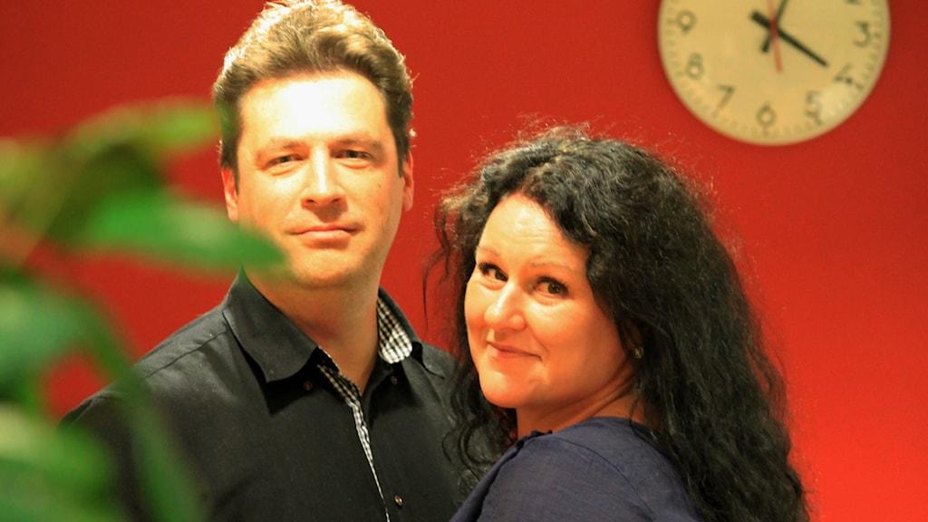 Magnus Krusell och Liselotte Erndin Dahlberg. Foto: Nick Näslund/Sveriges Radio