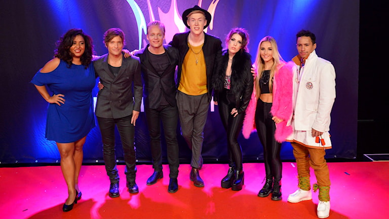 Deltagare vid tredje deltävlingen av Melodifestivalen 2015. Foto: Henrik Montgomery/TT