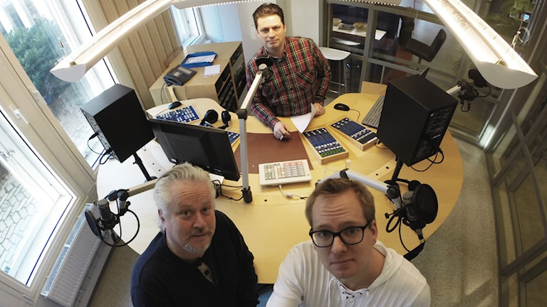 Magnus Krusell, Lennart Palm och Nick Näslund. Foto: Nick Näslund/Sveriges Radio