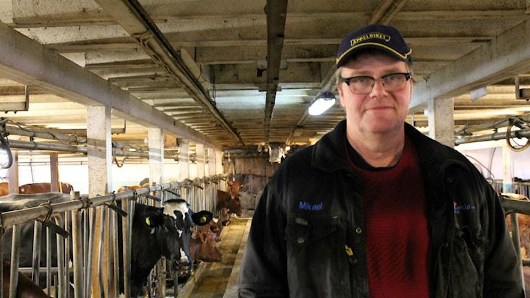 Håkan Lundgren, mjölkbonde och vice ordförande i LRF Sydost. Foto: Johanna Lindblad Ahl/Sveriges Radio