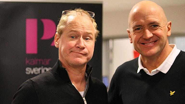 Robert Gustafsson och Thomas Petersson. Foto: Marcus Léonarde/Sveriges Radio.