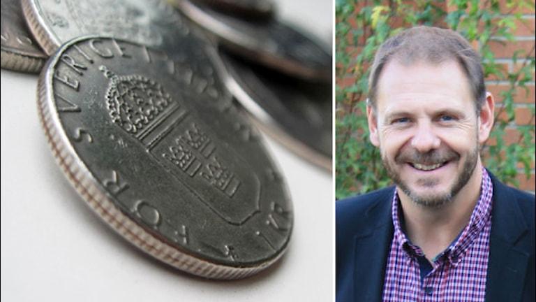 Pengar och Tomas Kronståhl. Foto: Nick Näslund och Johanna Lindblad Ahl/Sveriges Radio