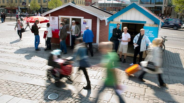 Valstugor. Foto: Björn Larsson Rosvall/TT