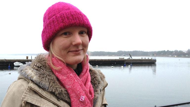 Maria Borgström, Feministiskt initiativ. Foto: Johanna Lindblad Ahl/Sveriges Radio