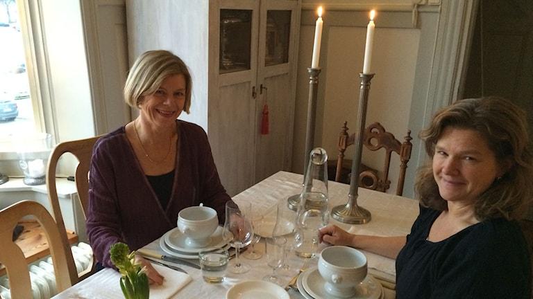 Annica Triberg och Maria Skagerlind. Foto: Niklas Skagerlind/Sveriges Radio