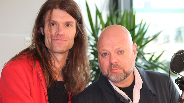 Jan Nordström och Peter LeMarc. Foto: Marcus Léonarde/Sveriges Radio