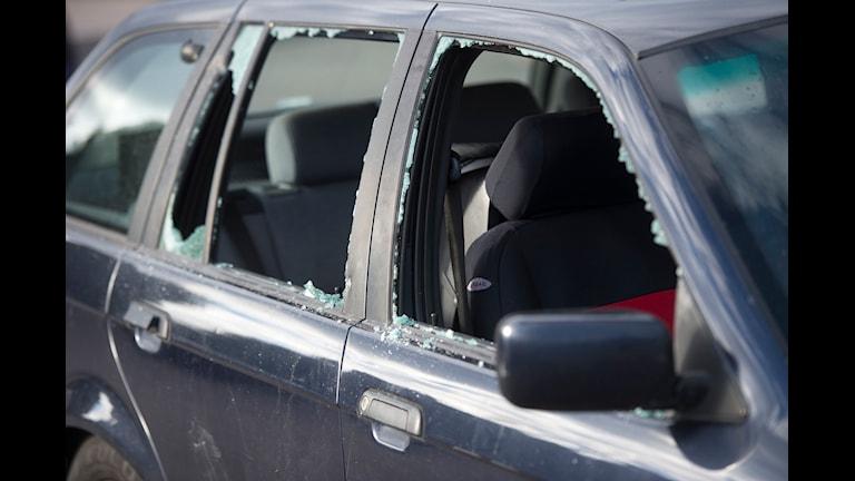 Kvarlämnade saker i bilen kan locka tjuven. Foto: Fredrik Sandberg/TT