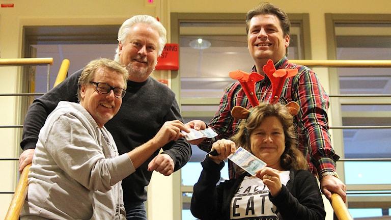 Peter Bressler, Lennart Palm, Maria Skagerlind och Magnus Krusell. Foto: Niklas Kaldner/Sveriges Radio