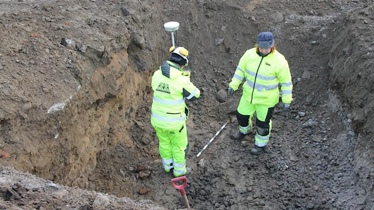 Arkeologisk undersökning. Foto: Johanna Lindblad Ahl/Sveriges Radio