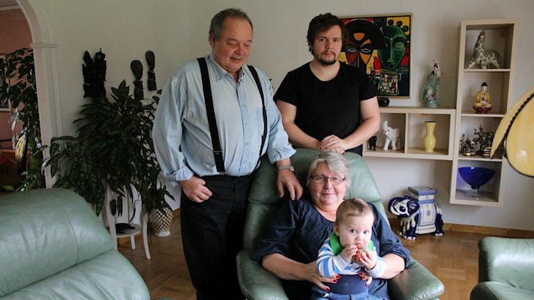 Familjen Hermansson i Västervik överlevde tsunamin 2004. Foto: Johanna Lindblad Ahl/Sveriges Radio