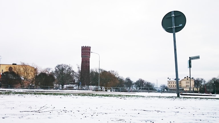 Snö i Kalmar. Foto: Nick Näslund/Sveriges Radio