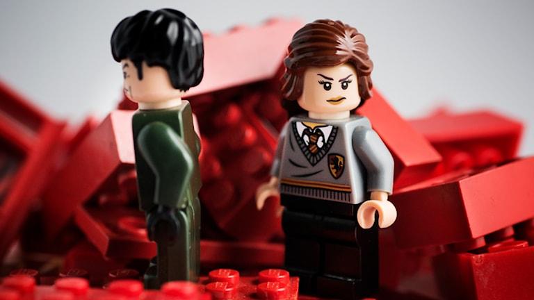 Kärlekspar i Lego. Foto: Andreas H. Nilsson/TT
