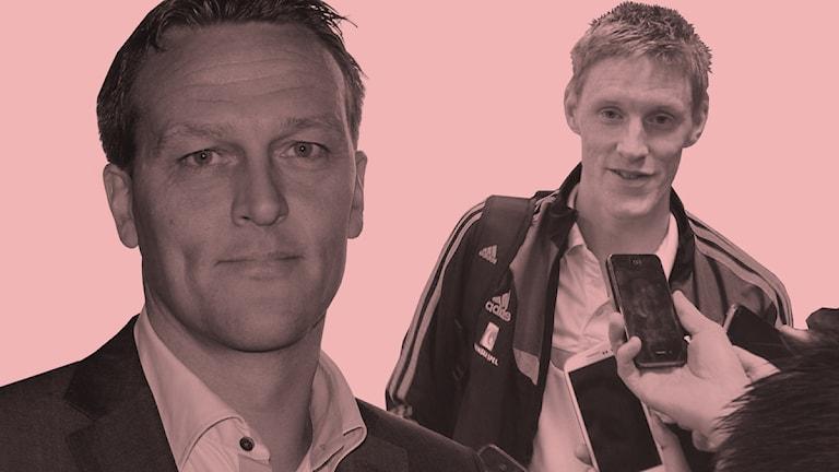 Svante Samuelsson och Rasmus Elm. Montage. Foto: Tobias Sandblad och Magnus Ekeros/Sveriges Radio.
