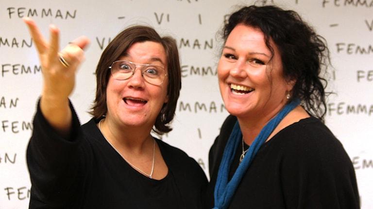 Mari Strålman och Liselotte Erndin Dahlberg. Foto: Nick Näslund/Sveriges Radio