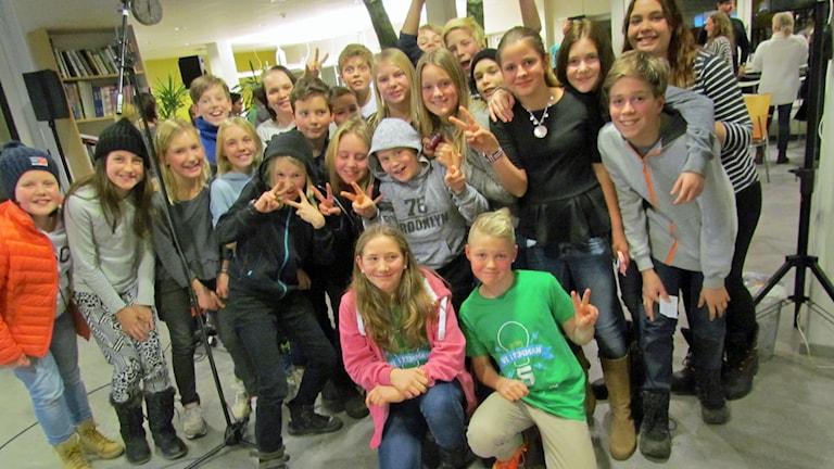 Rocknebyskolan jublade efter att ha vunnit första kvartsfinalen i Vi i femman.