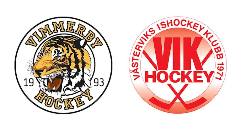 Klubbmärken Vimmerby hockey Västervik ishockeyklubb