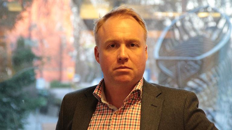 Henrik Holmberg, sjukhuschef på Västerviks sjukhus. Foto: Leif Johansson/Sveriges Radio